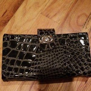 Handbags - Snake print receipt organizer